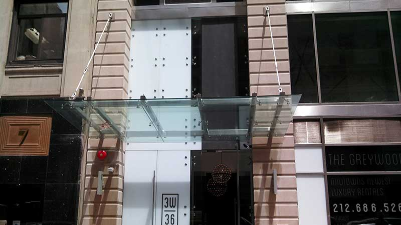 Glass Canopy Installation Design Manufacturing Nyc Ny Nj