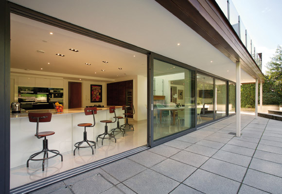 Sliding glass walls nj open up your space Opening glass walls