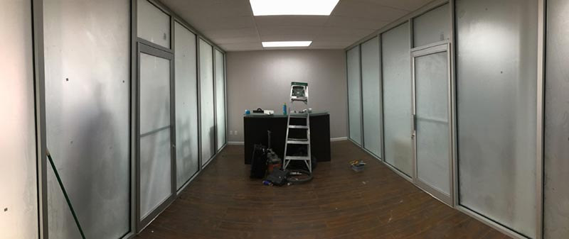 Frosted Glass Partition Walls Installation Brooklyn