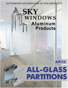 Glass Partitions Walls Dividers catalog cover