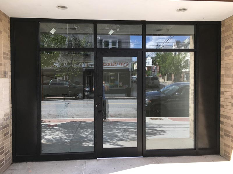 Aluminum Glass Door Installation Nyc Storefront Curtain Walls