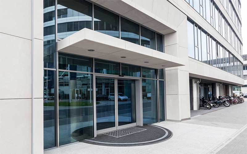 aluminum glass entrance doors