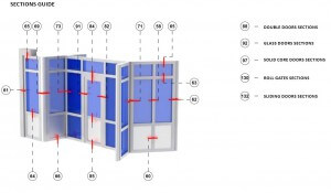 aluminum glass framed partitions drawings