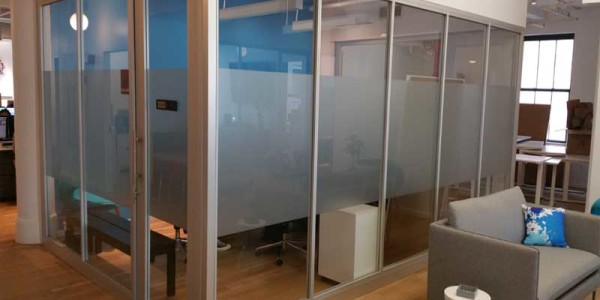 aluminum glass offic dividers brooklyn