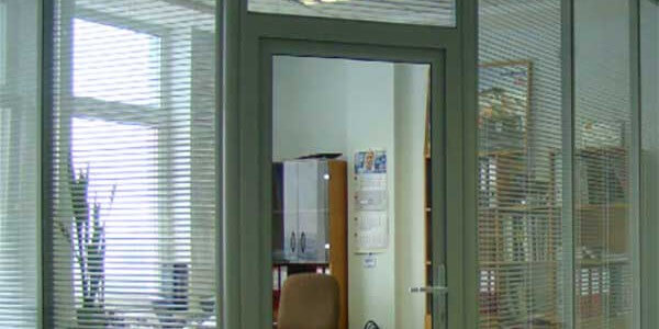 commercial framed glass doors panels shades dividers