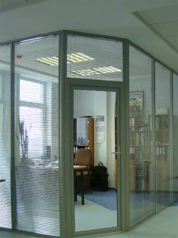 Glass wall glass office partitions divider design for Commercial windows