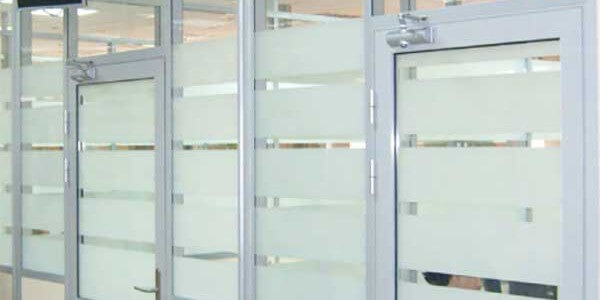 commercial framed glass doors panels wall dividers