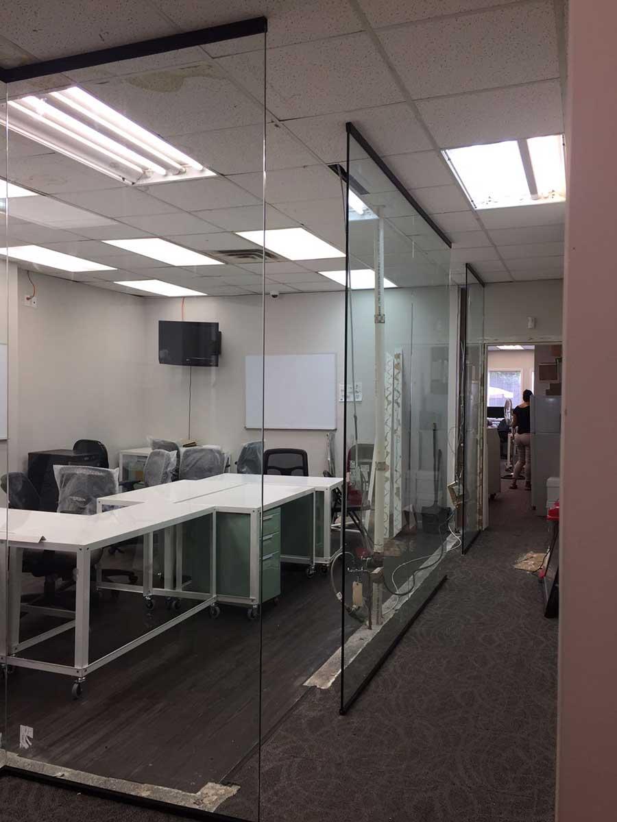 office devider. Glass Divider Brooklyn Nyc Office Devider N