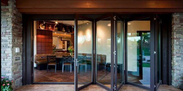 restaurant folding metal doors