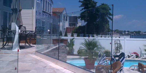 house exterior clear glass railing new jersey