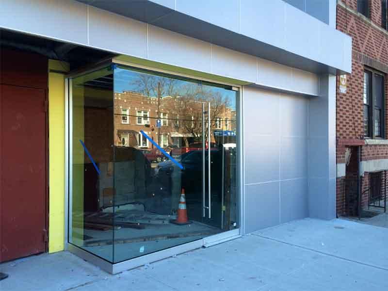 Glass Curtain Wall Storefront : Aluminum metal wall panels facade exterior design