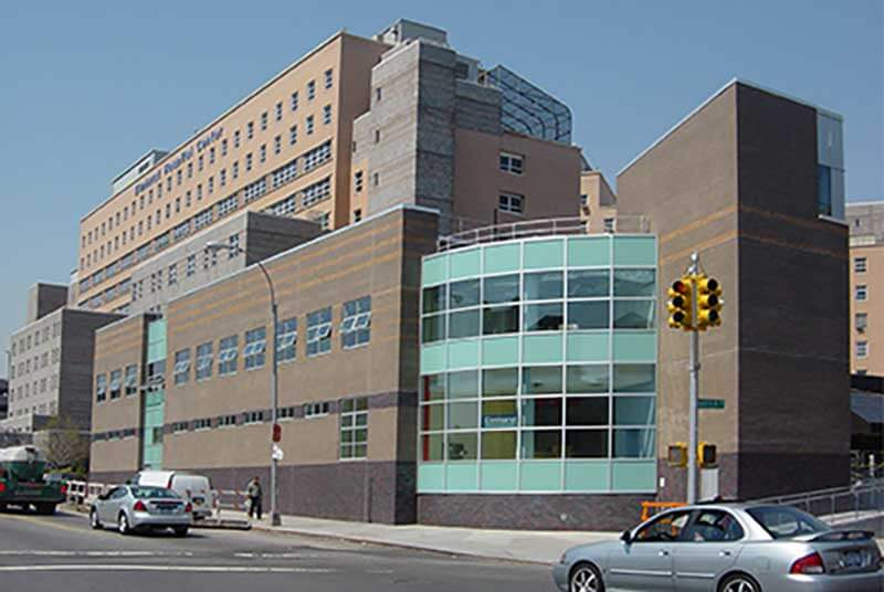 elmhurst hospital curtainwall windows doors