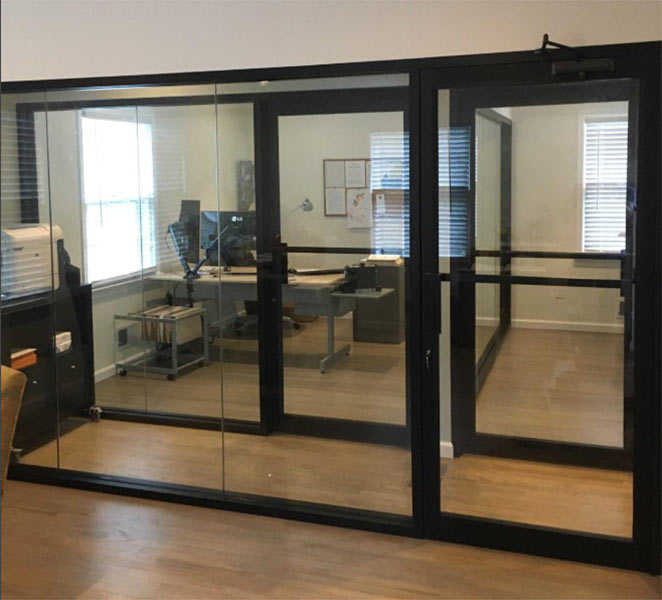 Glass Walls Aluminum Frameless Dividers Design