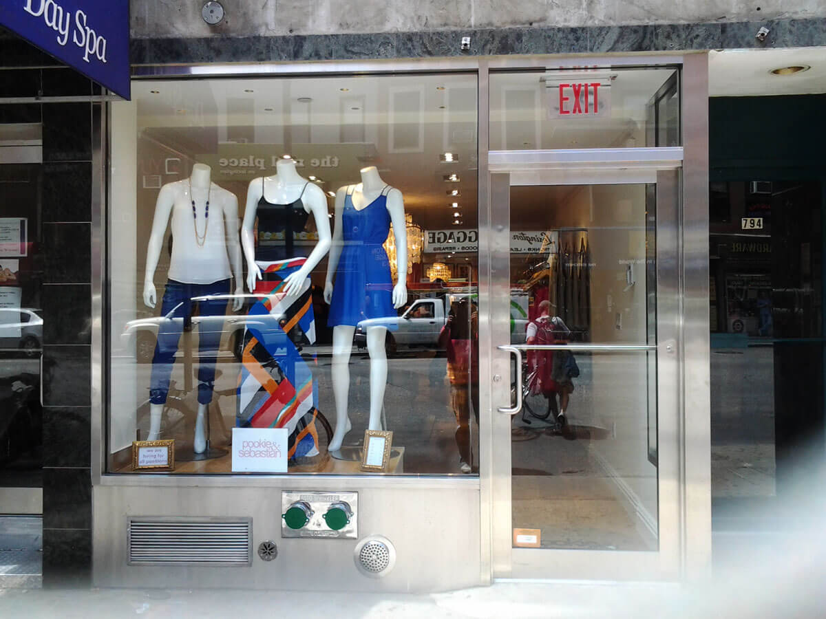Storefront Design, Installation, Manhattan, NYC