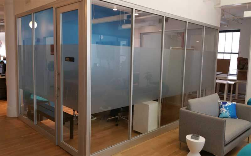 Aluminum Glass Offic Dividers Brooklyn. Glass Office Room Divider