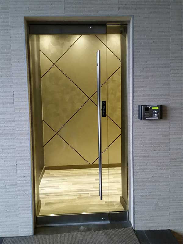 Clear Glass Office Door