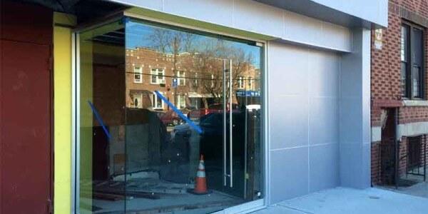 aluminum wall facade panels installation Brooklyn