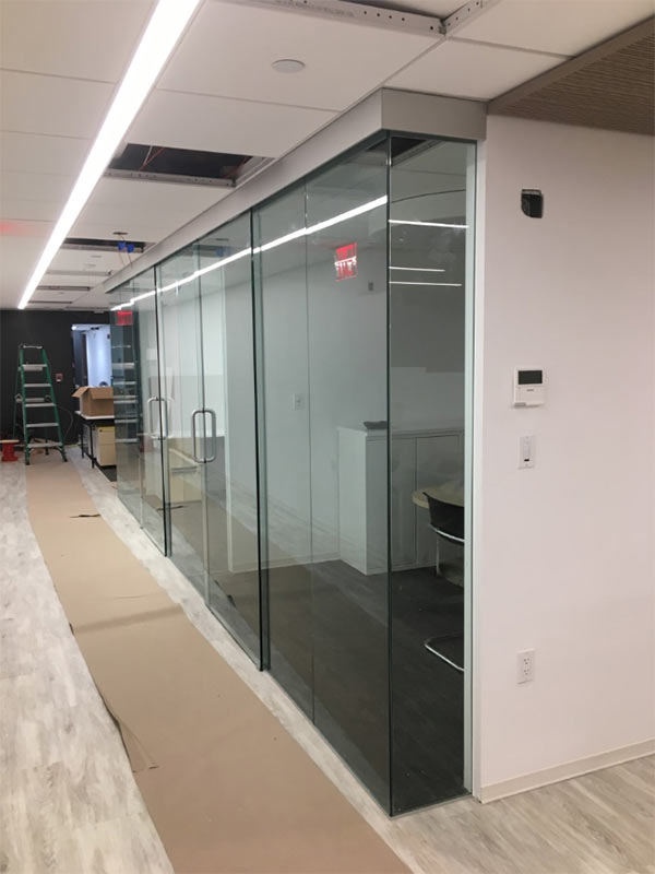 Commercial Glass Office Wall Dividers Brooklyn